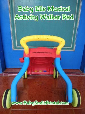 BABY ELLE Musical Activity Walker Red