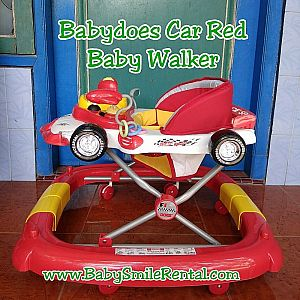 Baby Does Car Red Baby Walker
